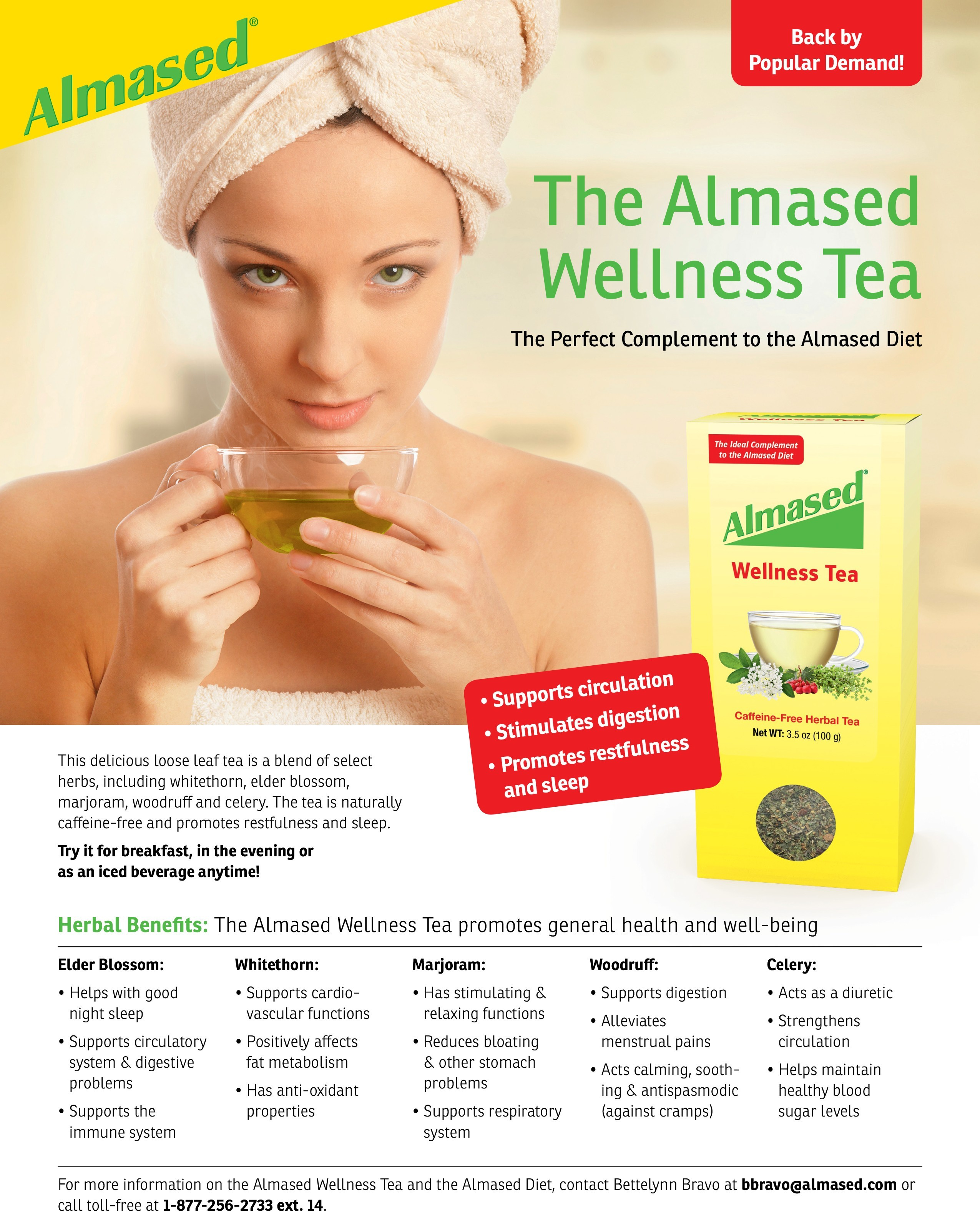 Almased Wellness Tea Fact Sheet