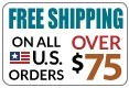Free Shipping on U.S. orders over $75