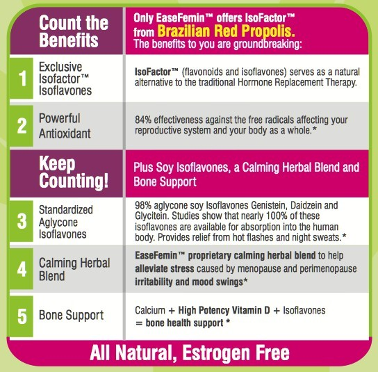 Benefits of EaseFemin from NaturaNectar