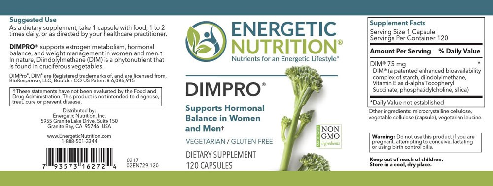 DIM PRO - Estrogen Metabolism Support - Energetic Nutrition