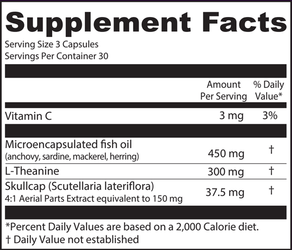 LTO3 Supplement Facts