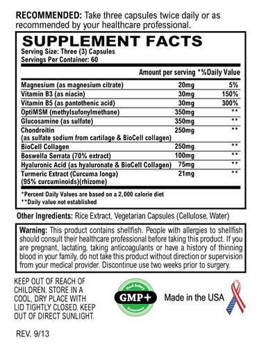 Flexera Join Formula by World Nutrition - Supplement Facts