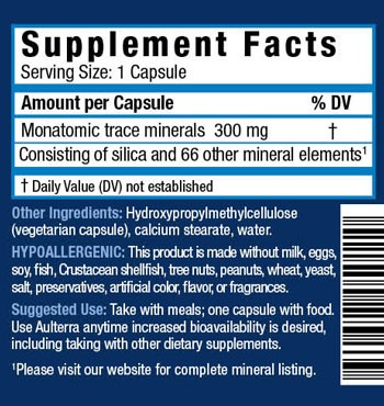 Aulterra Capsules product label