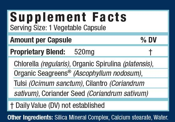 Toxin Therapy 60 Caps Supplement Facts