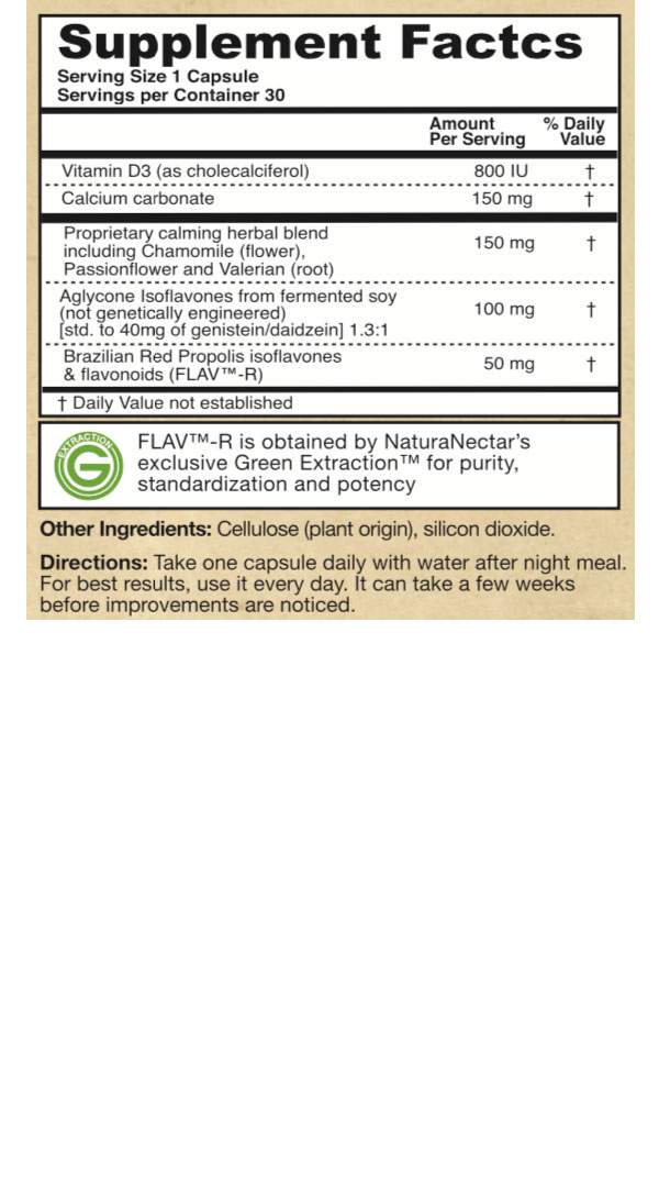 Supplement Facts - EaseFemin
