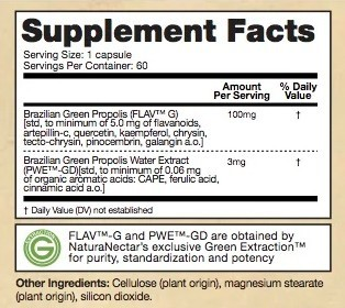 Supplement Facts - Green Bee Propolis