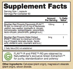 Supplement Facts - Red Bee Propolis