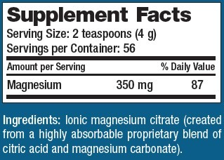 Supplement Facts - Natural Calm by Natural Vitality