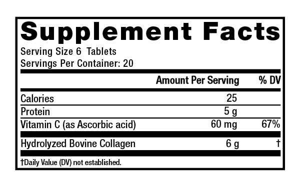 Supplement Facts - Super Collagen + C