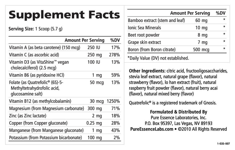 Supplement Facts - Ionic-Fizz Magnesium Plus Mixed Berry