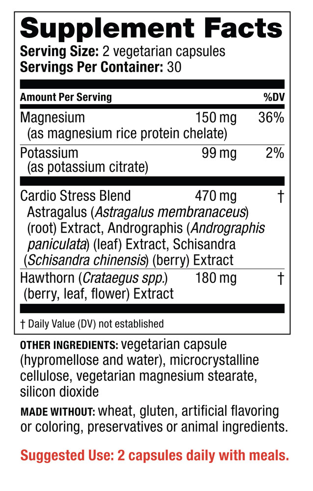 Supplement Facts - 120/80 Care