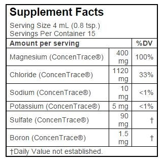 Supplement Facts - Ionic Magnesium
