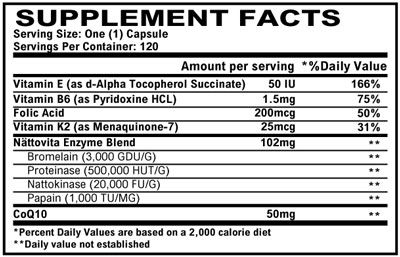 Supplement Facts - Nattovita