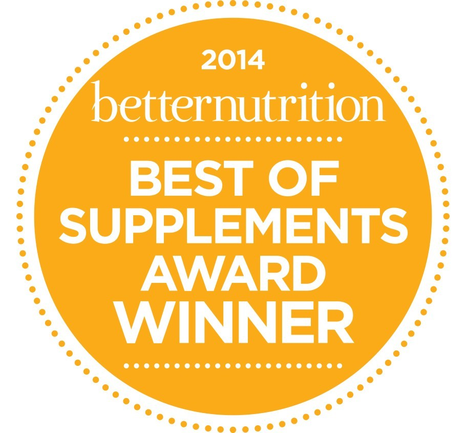 2014 Better Nutrition Best of Supplements Award Winner