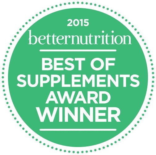 2015 Better Nutrition Best of Supplements Award Winner