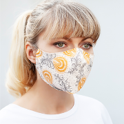 Silk & Cotton Face Mask - Desert Flower