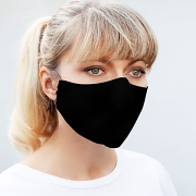 Silk & Cotton Face Mask - Black