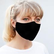 Silk Face Mask - Triple Layered - Black