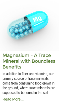 Magnesium - A Trace Minerals with Boundless Benefits