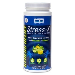 Stress-X Magnesium Powder - Lemon Lime 8.8 oz