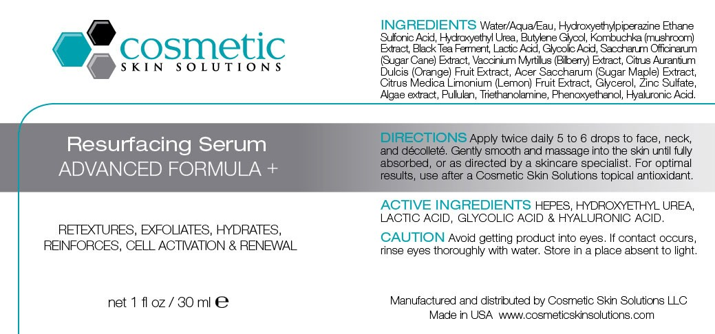 Resurfacing Serum with AHAs and Glycolic Acid label