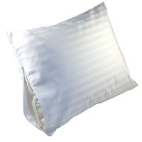 Travel pillow damask stripe protective cover